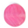 Glass Pressed Beads 8mm Flat Round Fuchsia Matt